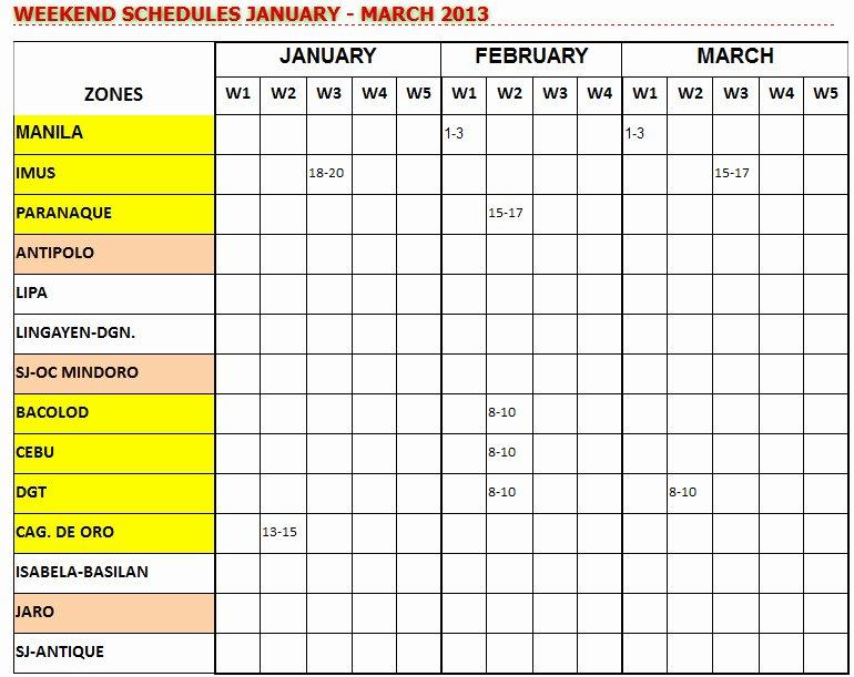 Weekend Scheduled Template Wedding Weekend Timeline
