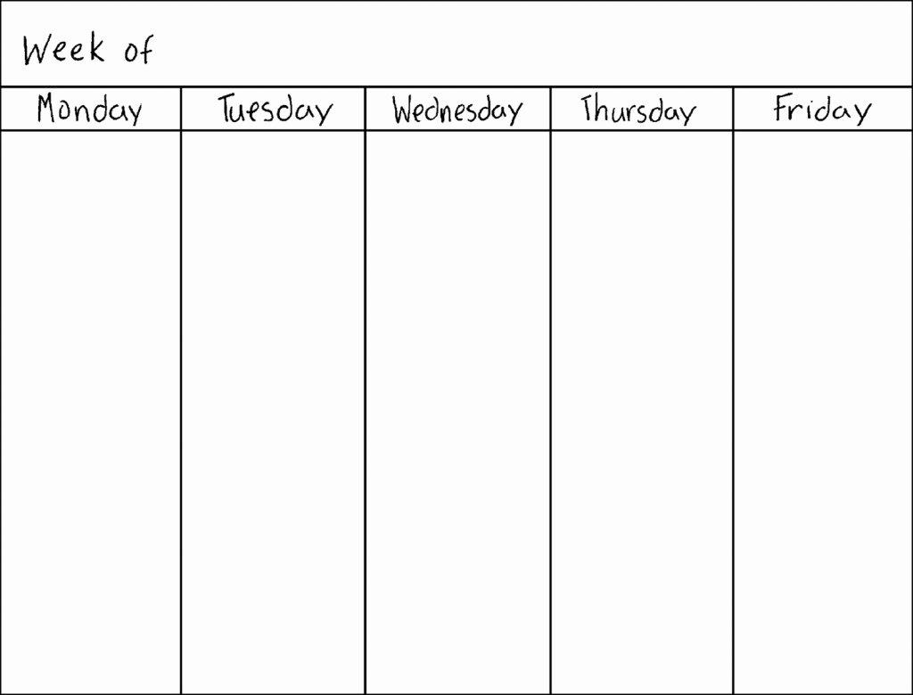 Weekly Calendar Blank