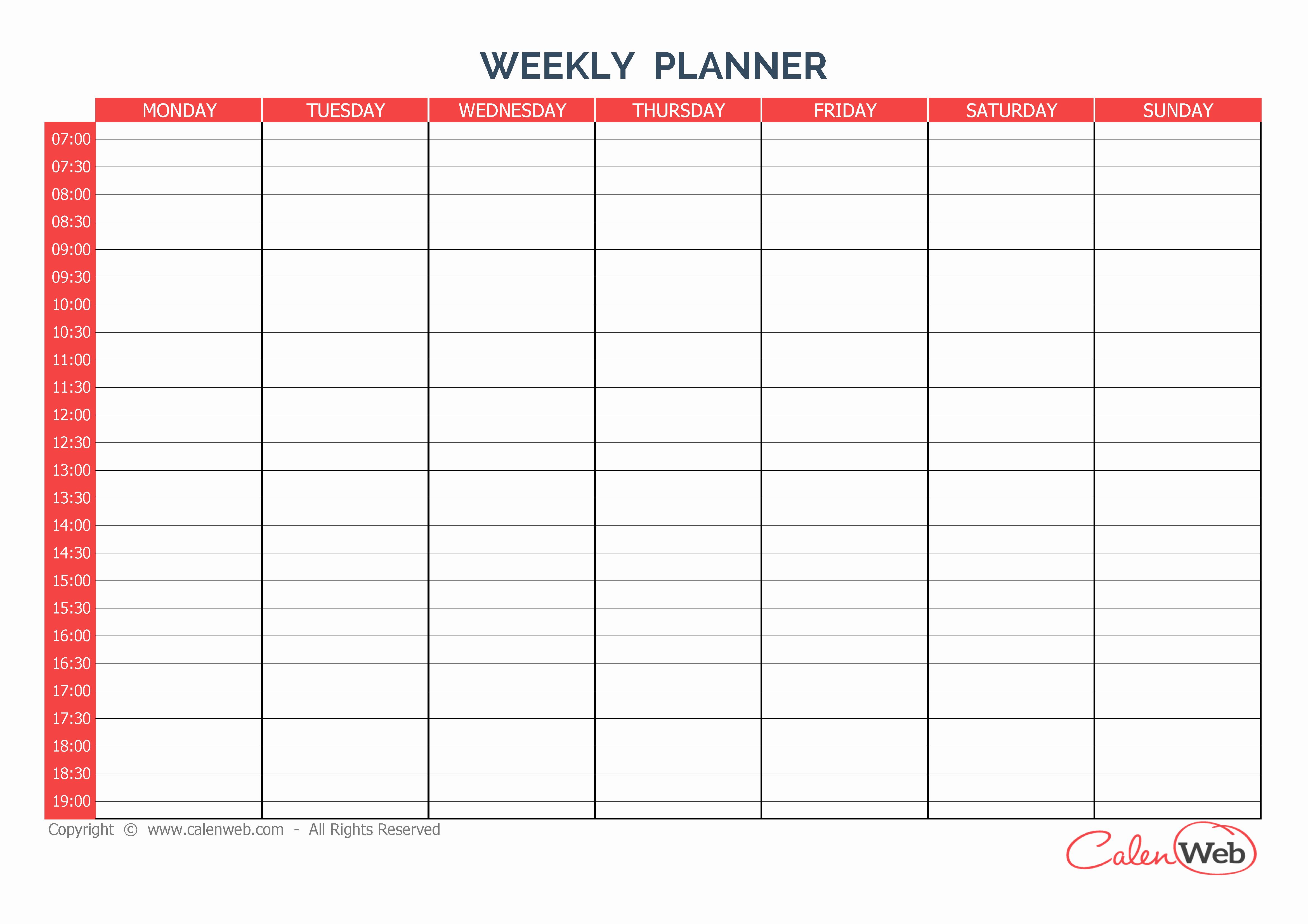 Weekly Calendar Planner