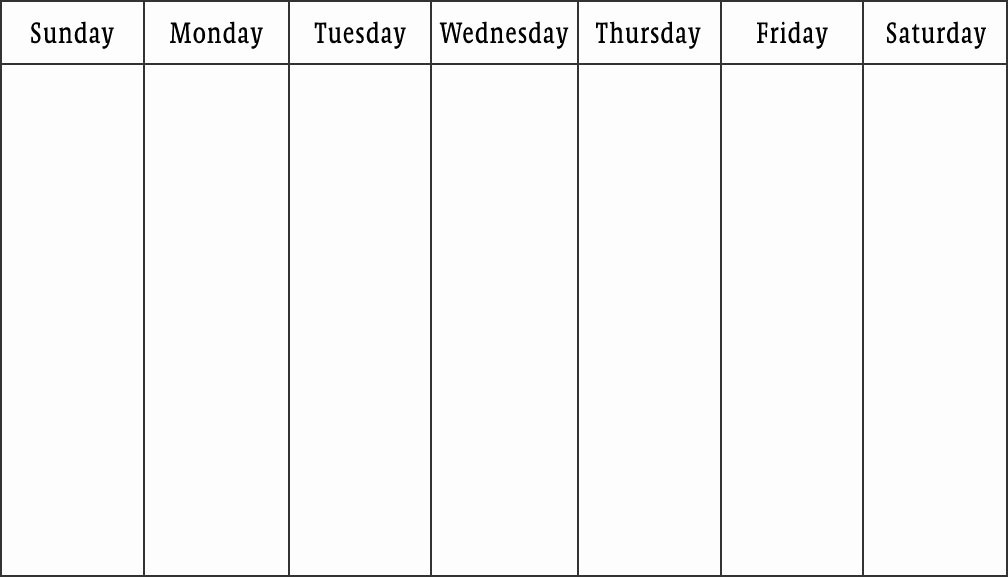 Weekly Calendar Print Out