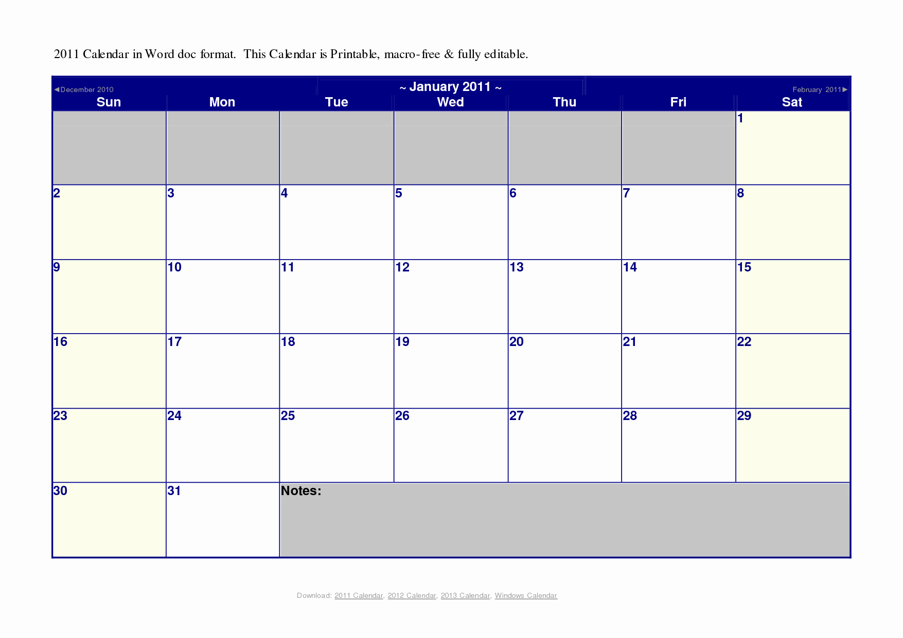 Weekly Calendar Template Word Pdf Monthly Calendar