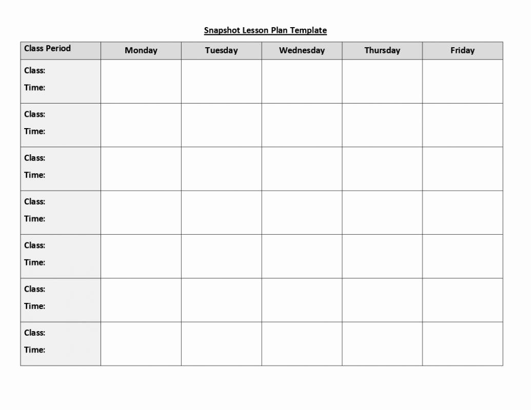 Weekly Lesson Plan Template Doc