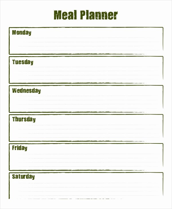 Weekly Meal Planner 10 Free Pdf Psd Documents Download