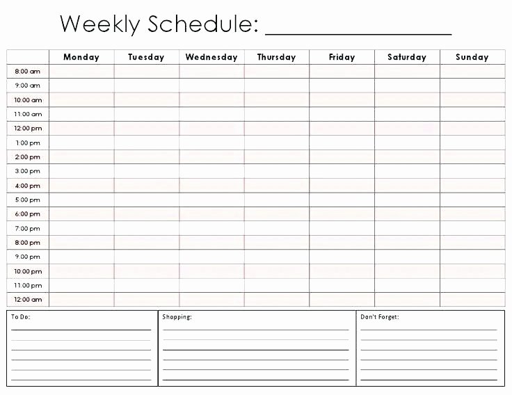 Weekly Planner Excel Tags Weekly Hourly Planner Template