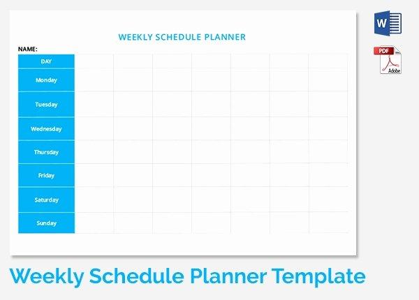 Weekly Schedule Template 19 Free Word Excel Pdf