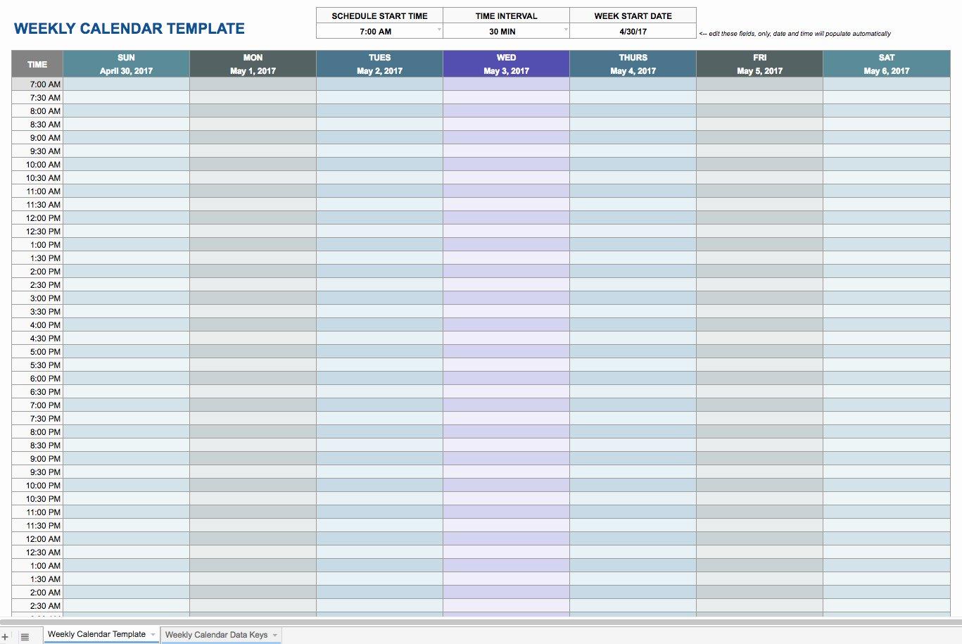 Weekly Schedule Template Google Docs