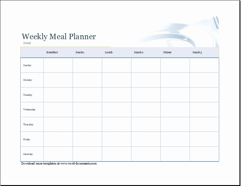 Weekly Shopping List and Menu Planner
