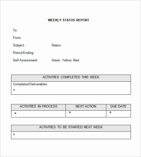 Weekly Status Report Templates 27 Free Word Documents
