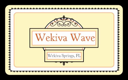 Wekiva Wave Rectangular Beer Bottle Label Small Label