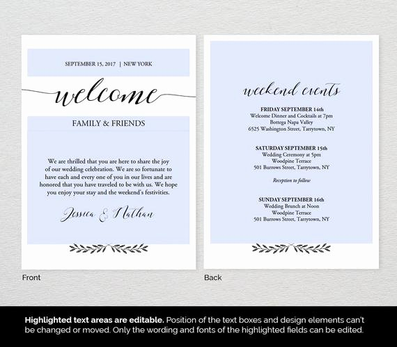 Wel E Bag Letter Template Wedding Wel E by