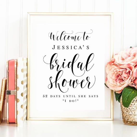 Wel E Bridal Shower Sign Editable Template Wel E Sign