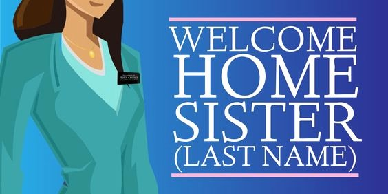 Wel E Home Sister Sign Template