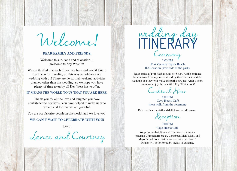 Wel E Letter Wedding Wel E Letter Wedding Itinerary
