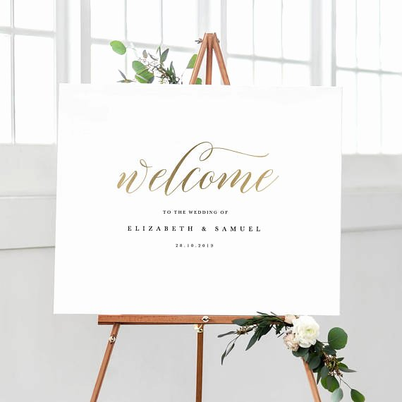 Wel E to Our Wedding Sign Template Printable Wel E Sign
