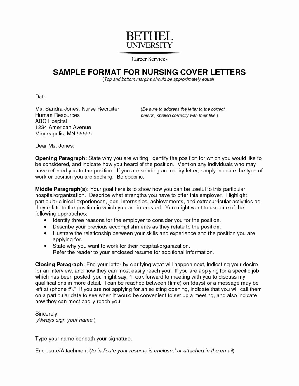 well cover letter nursing new grad