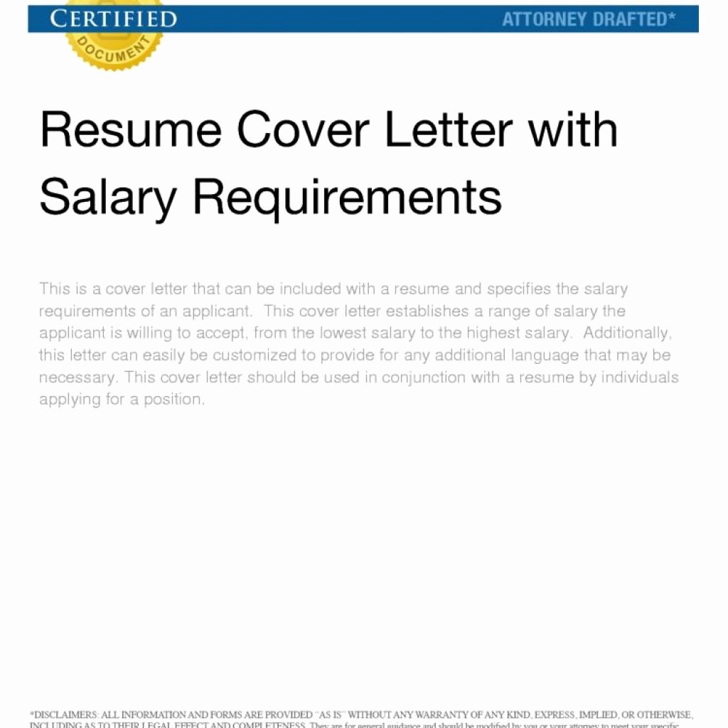 Well Cover Letter Salary Requirements – Letter format Writing