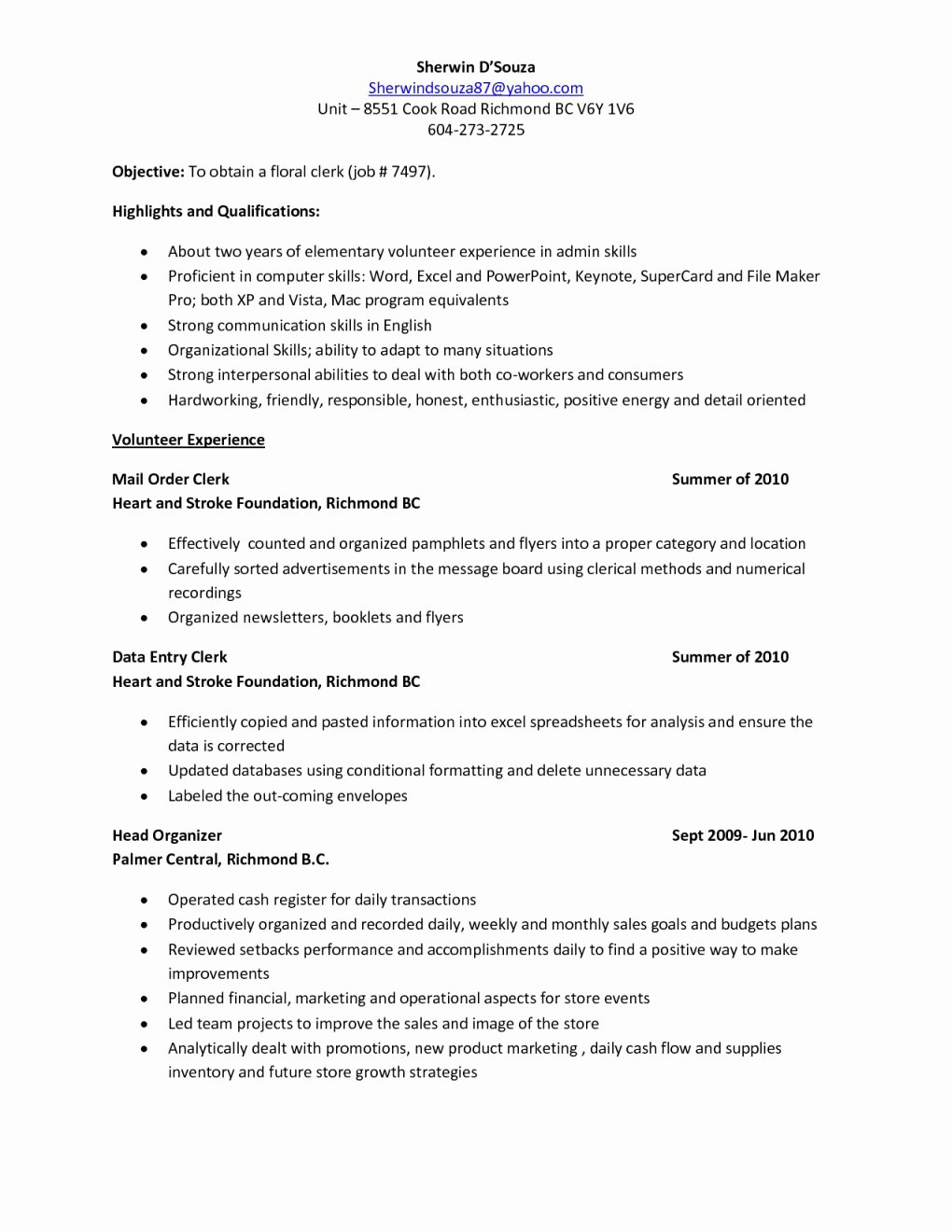 Well Known Health Unit Coordinator Resume Eo74