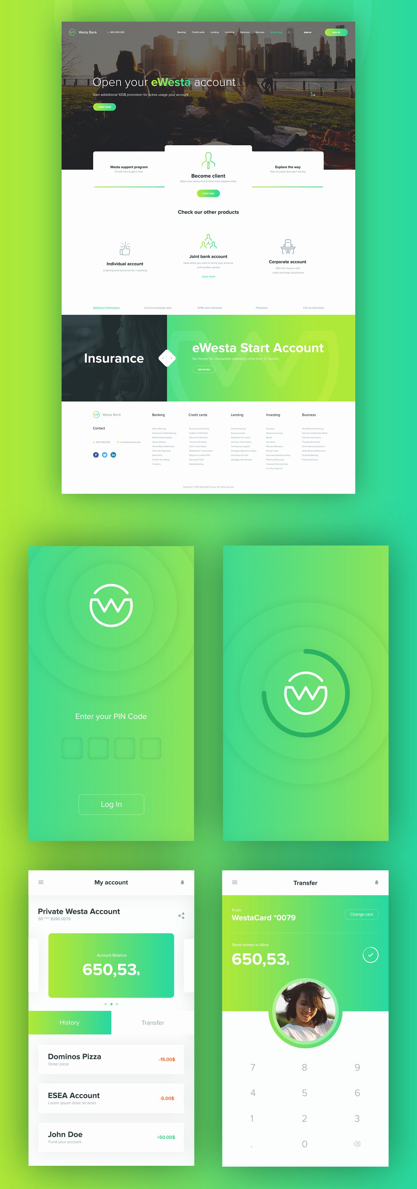 Westa Free Psd Template and Mobile App 72pxdesigns