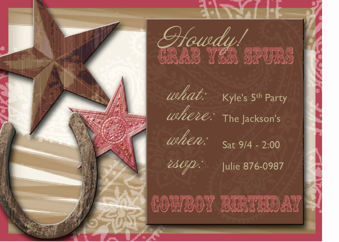 Western Party Invitations
