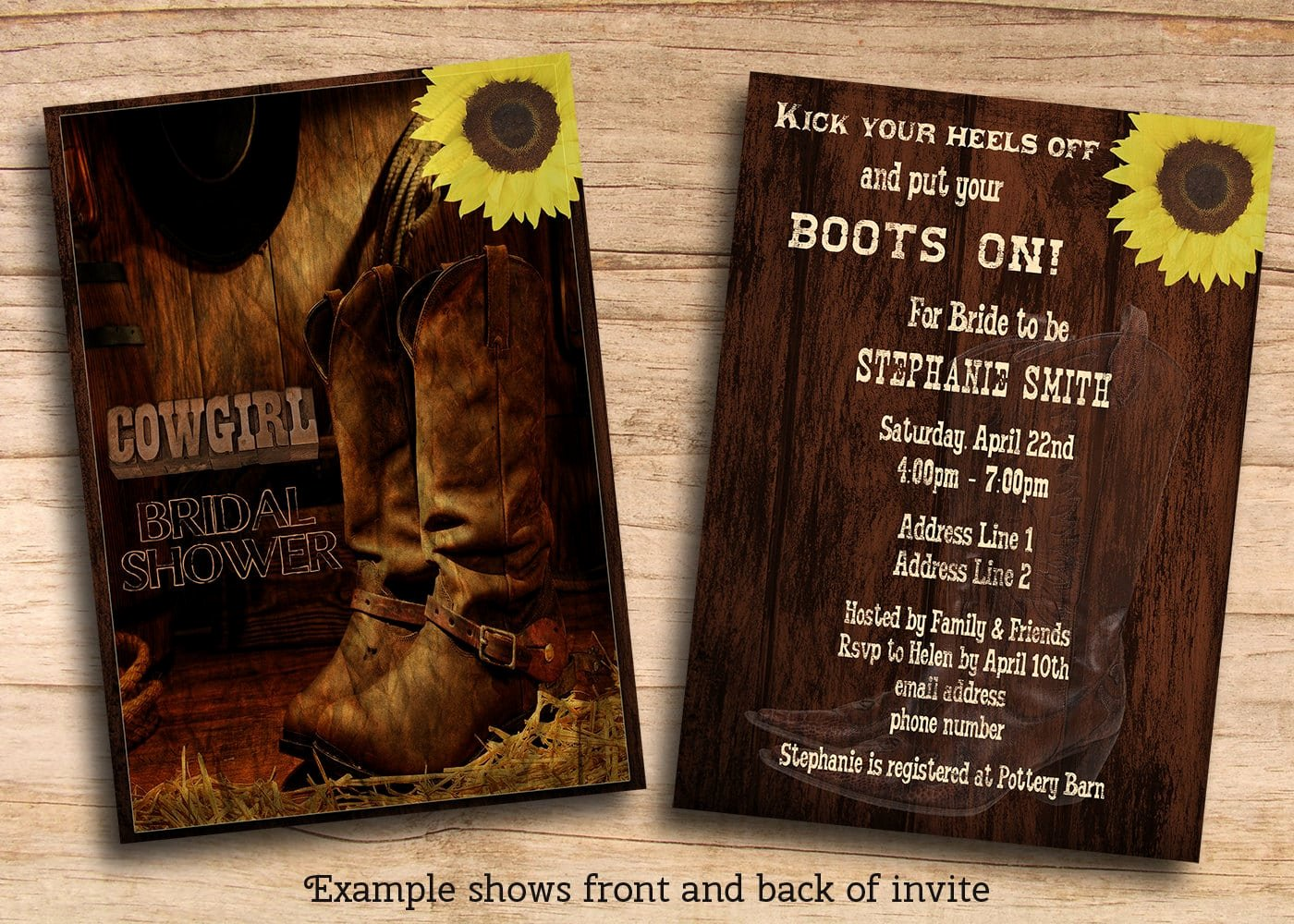 Western theme Invitations Templates