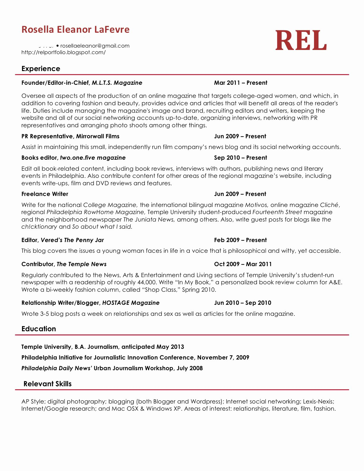 What A Resume Should Look Like In 2018