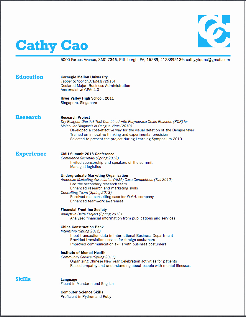 What Font is Good for A Resume
