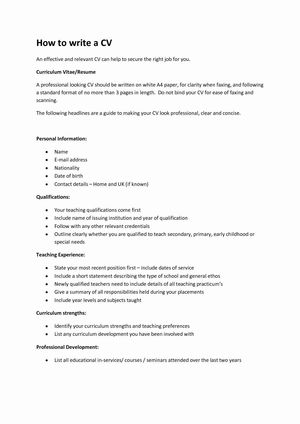 What Information Do I Need for A Resume Resume Ideas