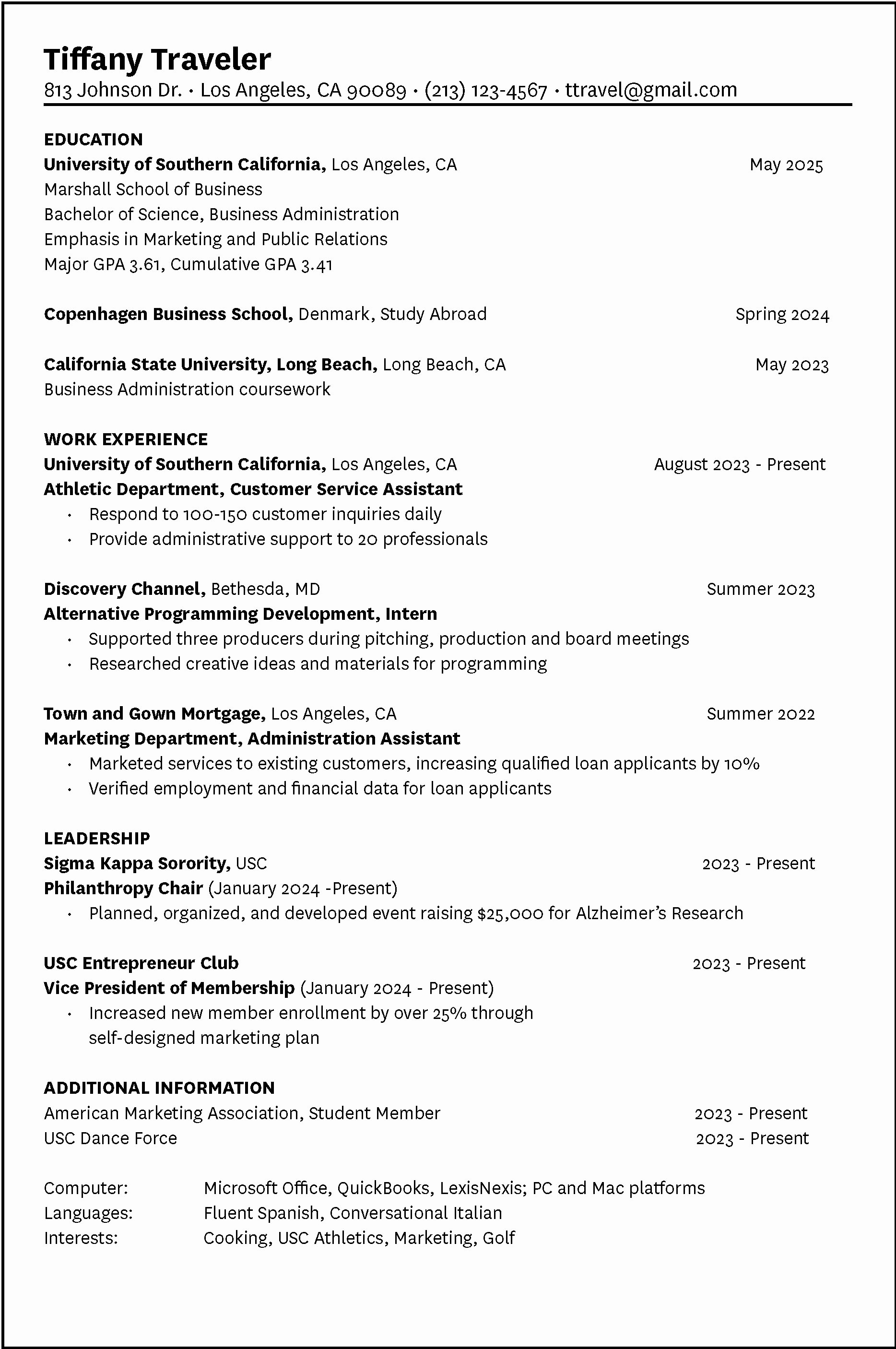 What Information Do I Need to Make A Resume Bongdaao