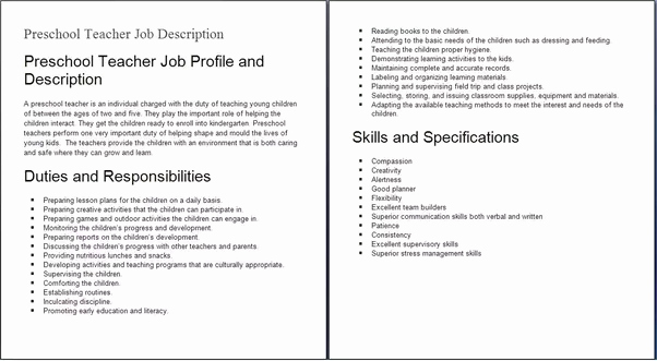 What is A Job Description Quora