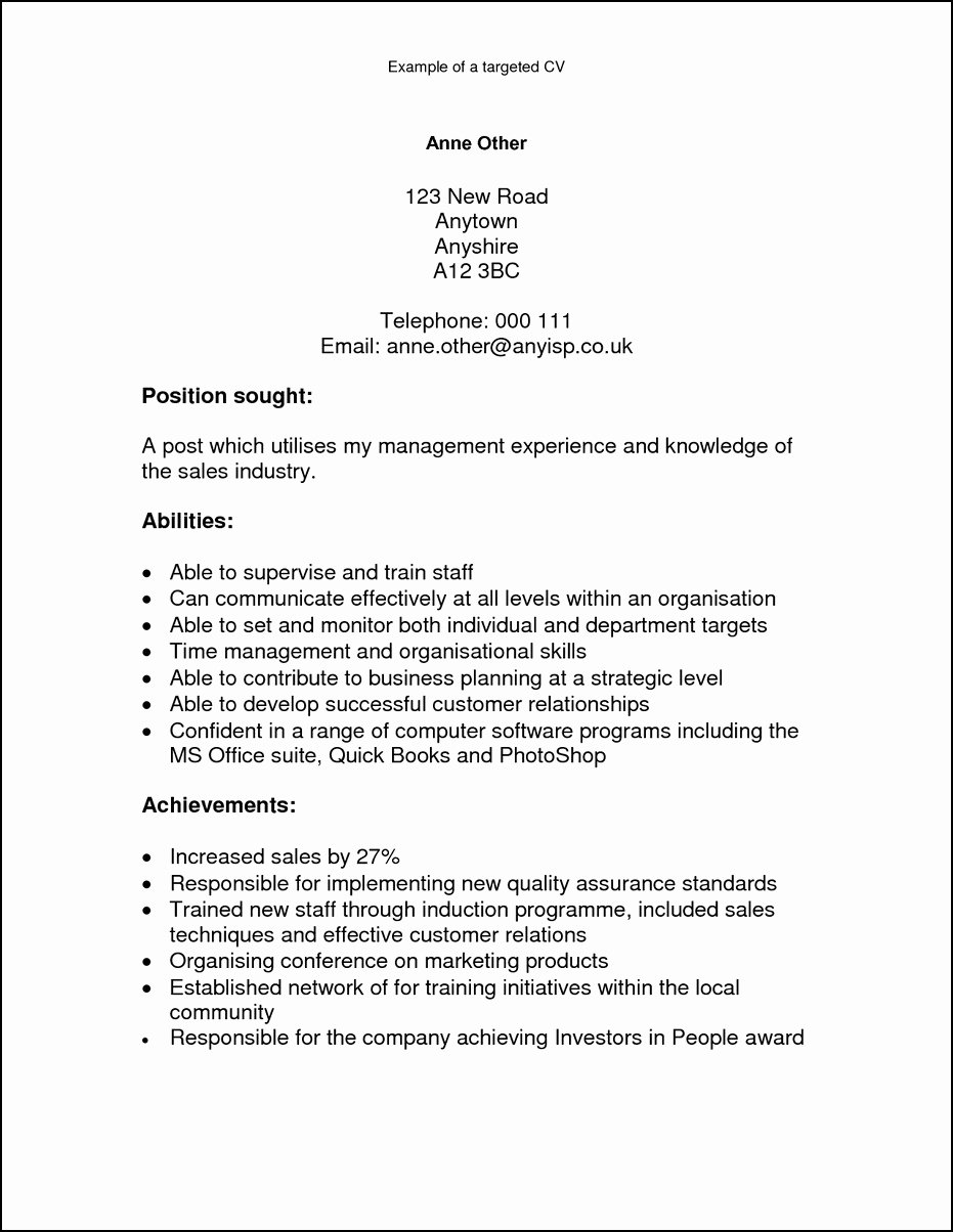 What is the Skills and Abilities A Resume – Perfect