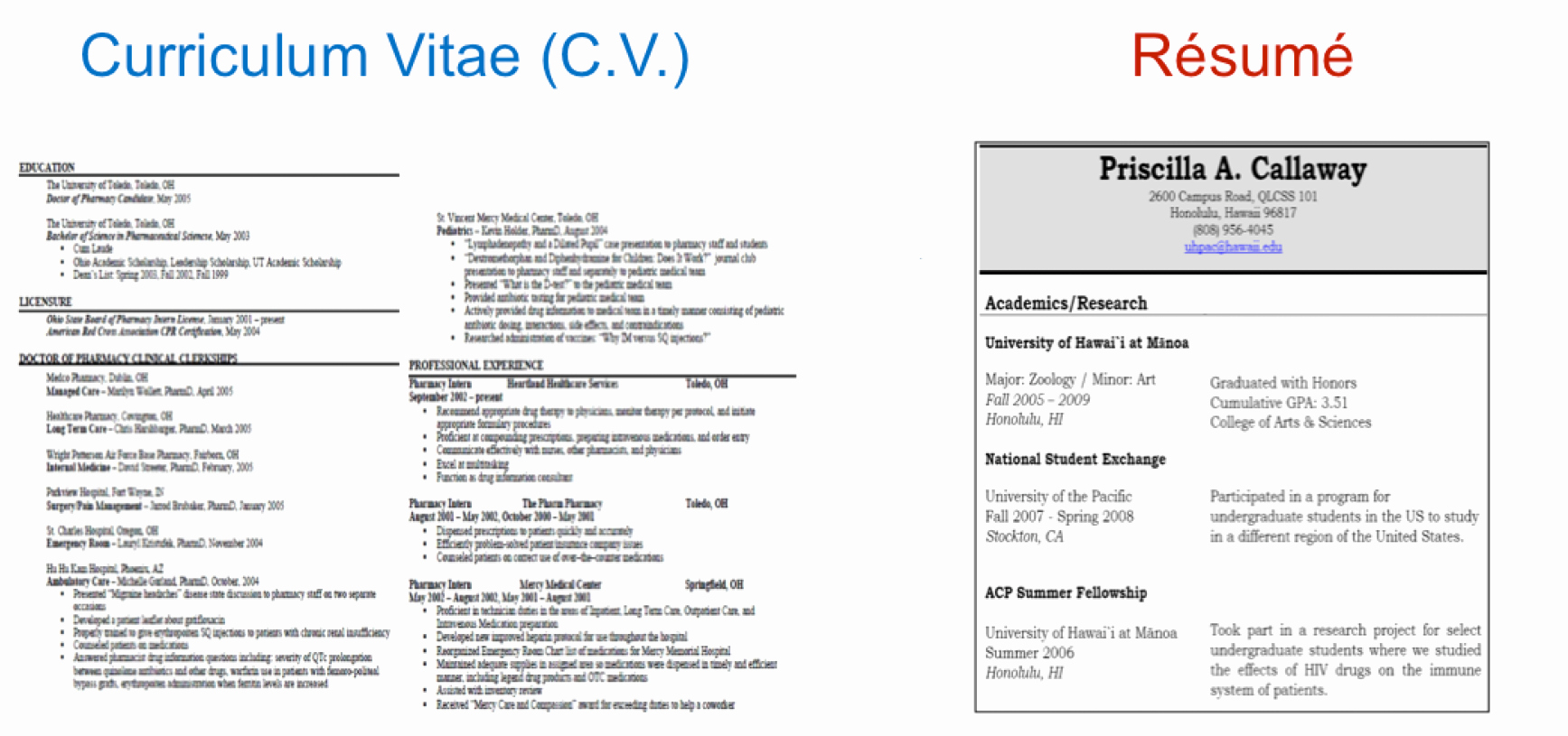 What S the Difference Between Resume and Cv