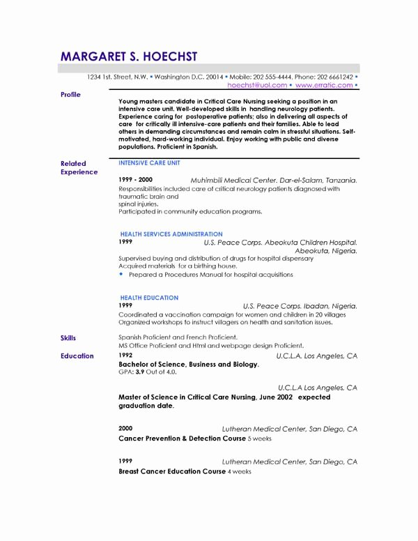 What to Write In Profile In Resume