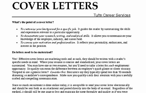 Whats In A Cover Letter