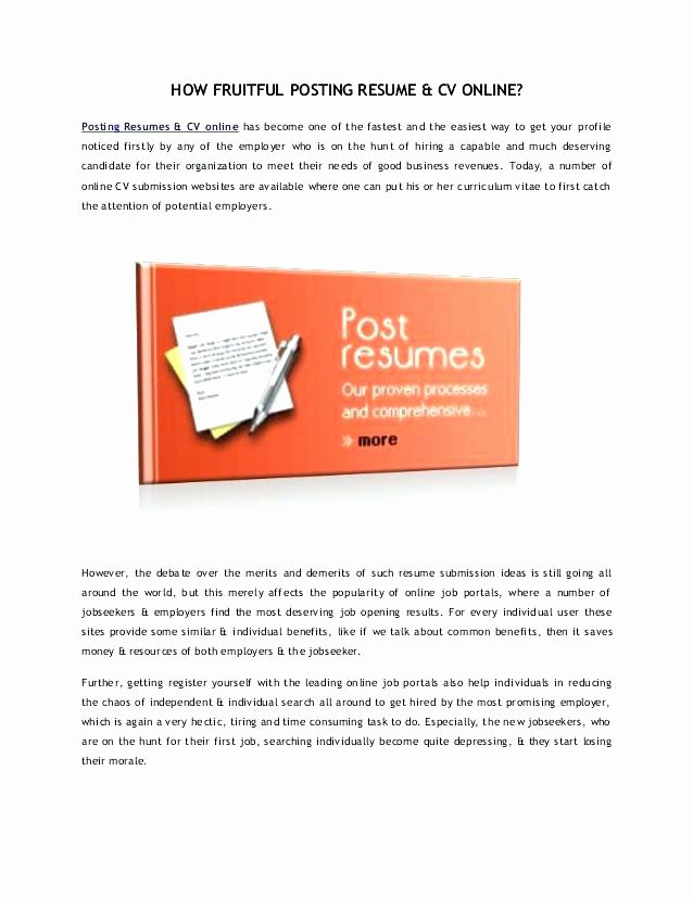 Where to Post Resume Free Indeed Resume Template Post Your