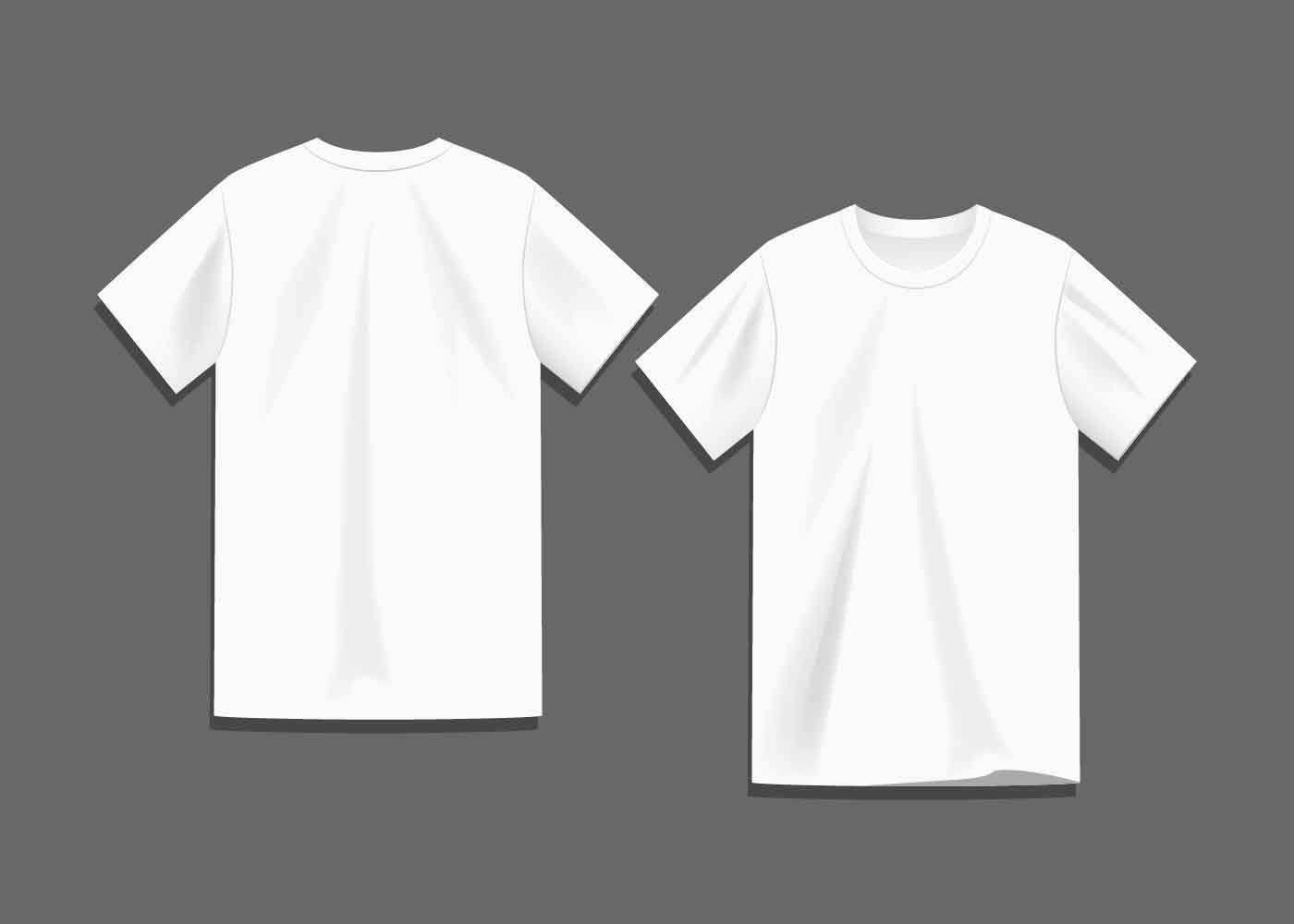 White Blank T Shirt Template Vector Download Free Vector