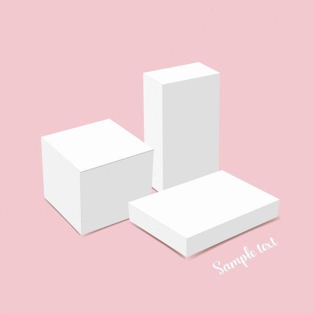 White Box Template Design Vector