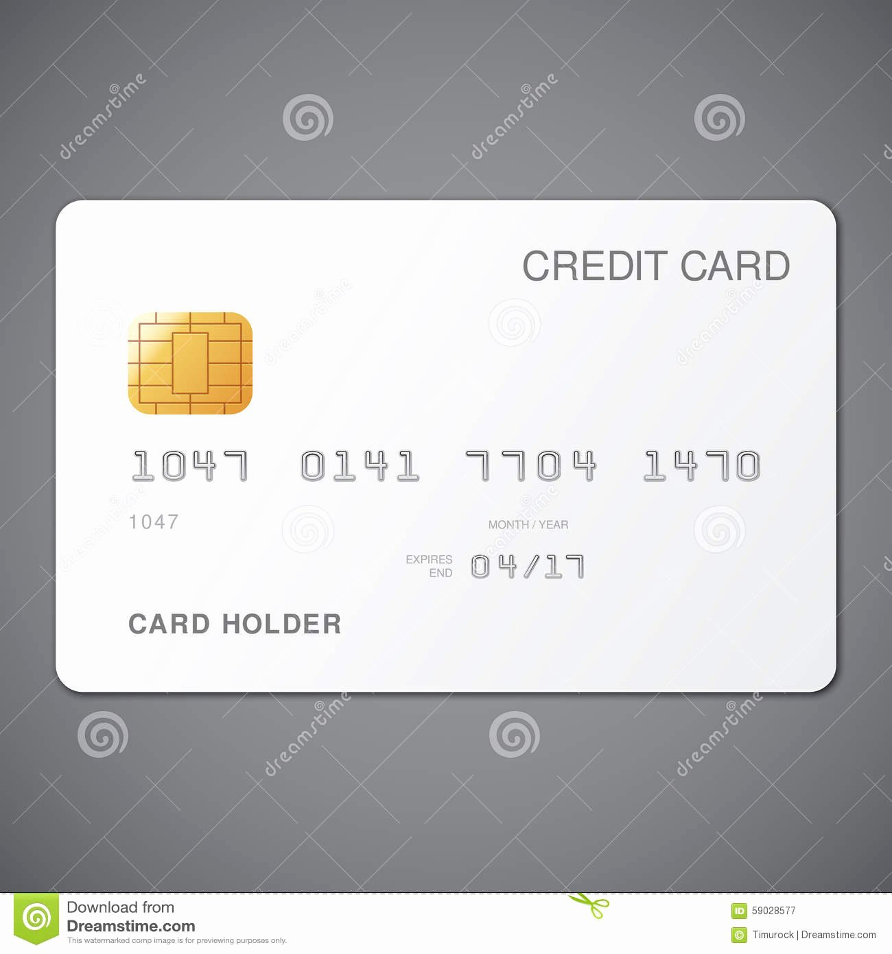 White Credit Card Stock Vector Image
