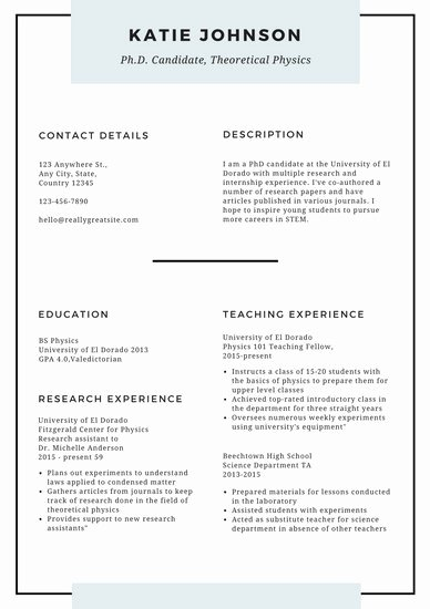 White Minimal Scholarship Resume Templates by Canva