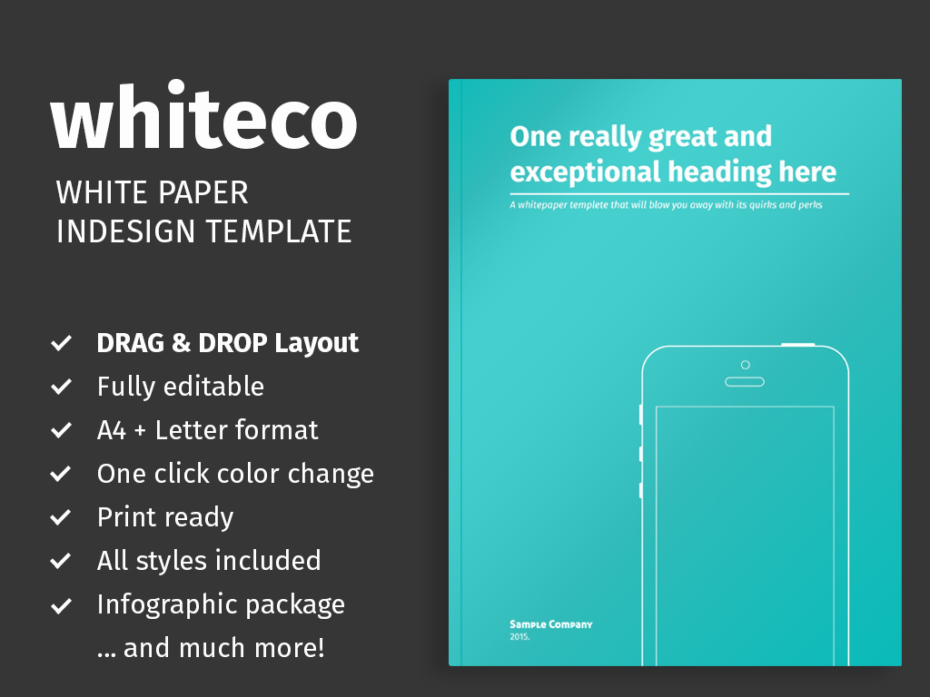 White Paper Template for Indesign themzy