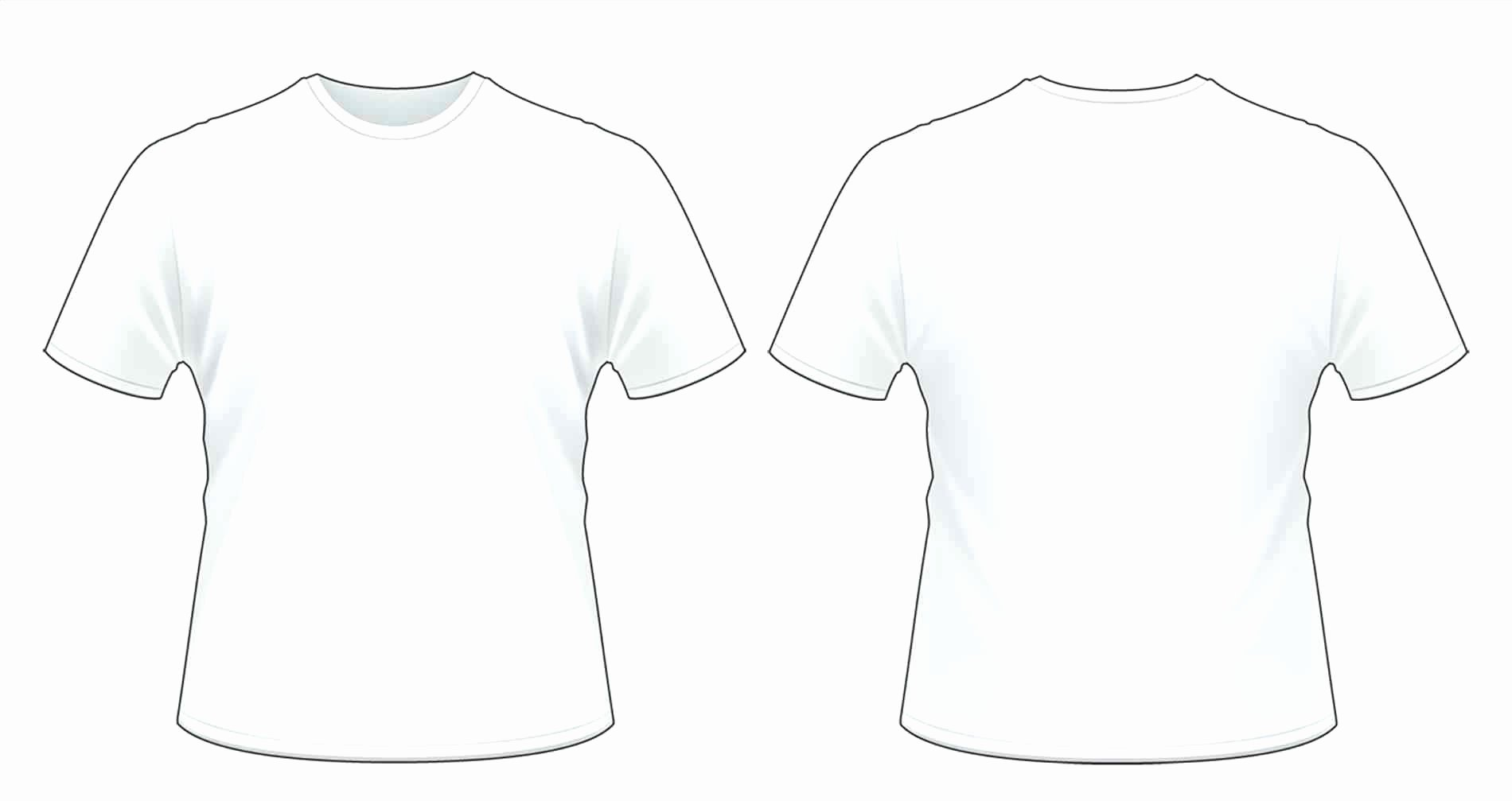White T Shirt Front and Back Template