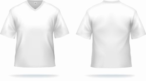 White T Shirts Template Vector Set 01 Vector Life Free