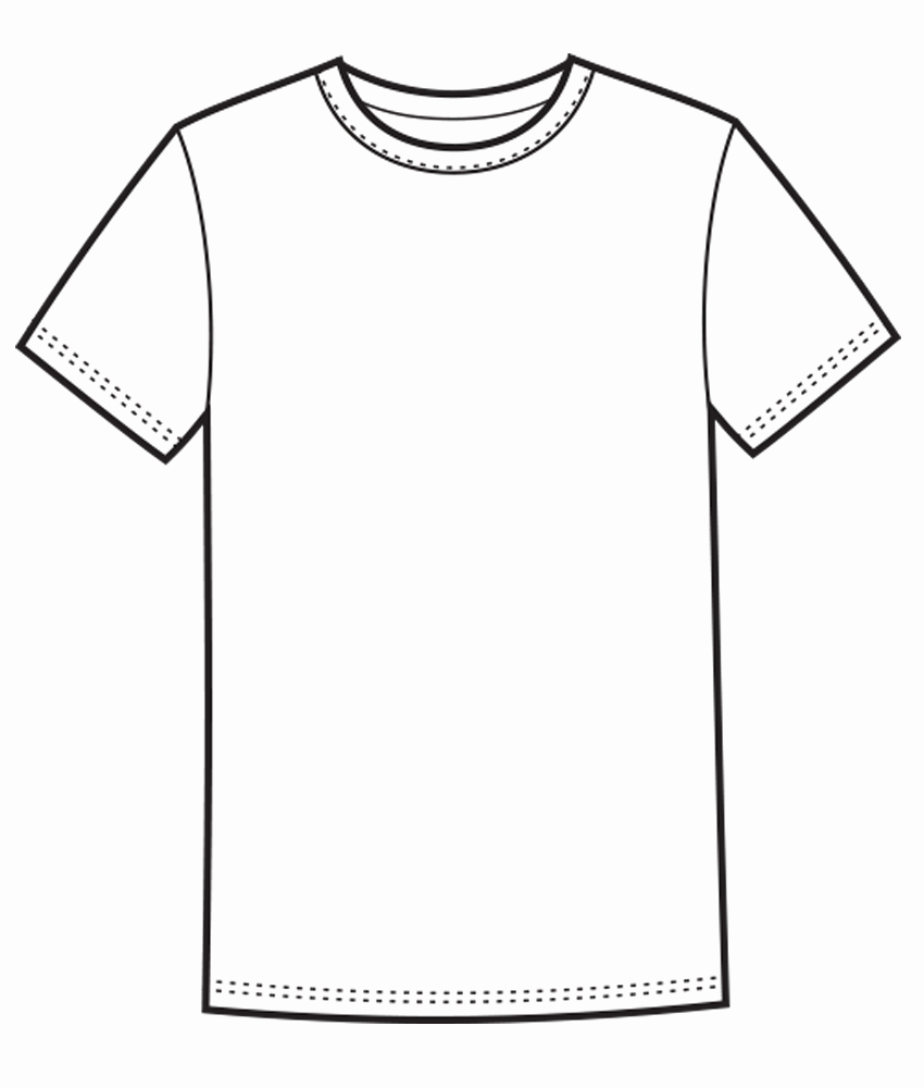 White Tee Shirt Template