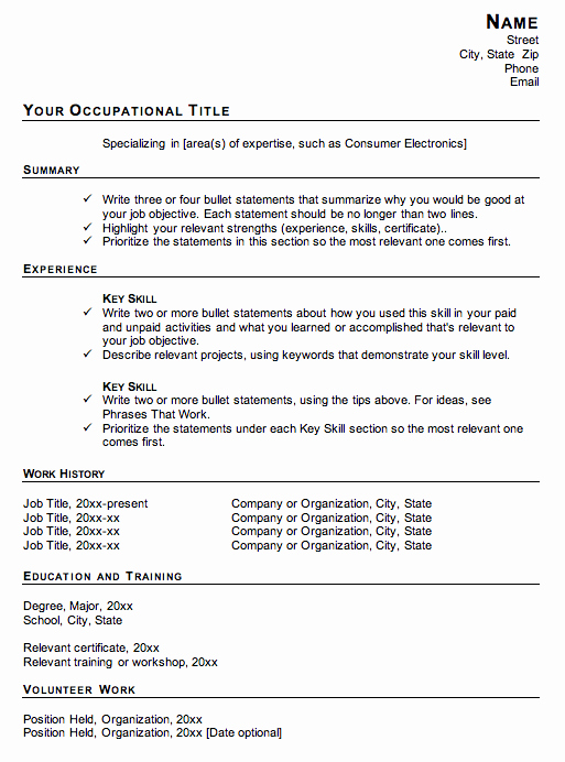 Why Not to Use A Functional Resume format Susan Ireland