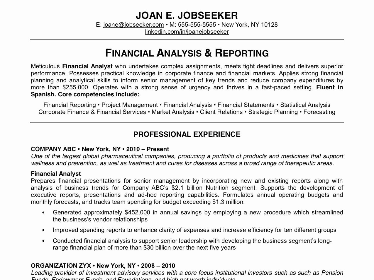 why this is an excellent resume 2013 11