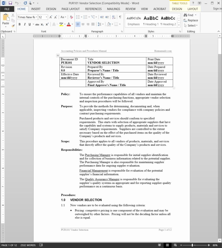 Why Use Microsoft Word Templates for Policies and Procedures