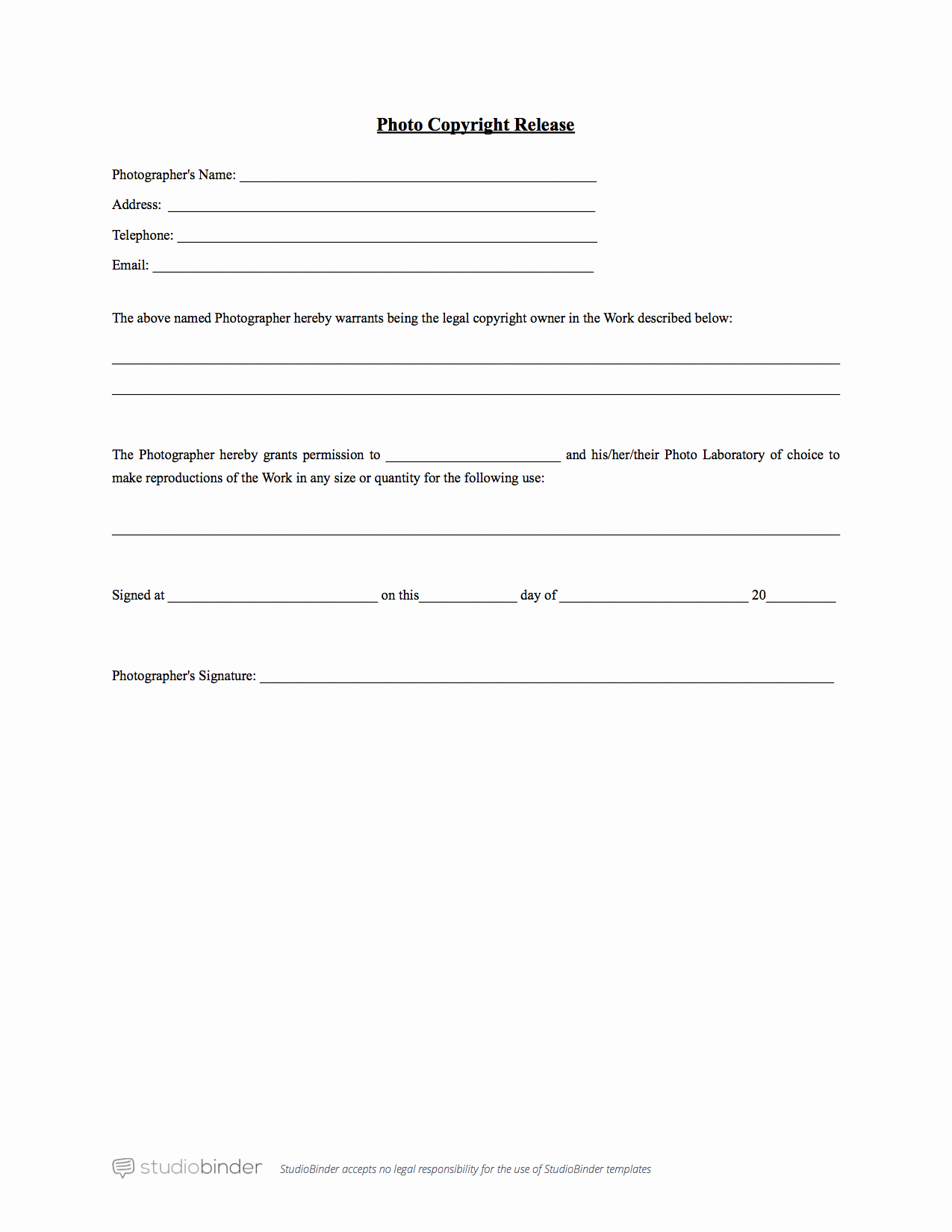 Why You Should Have A Release form Template