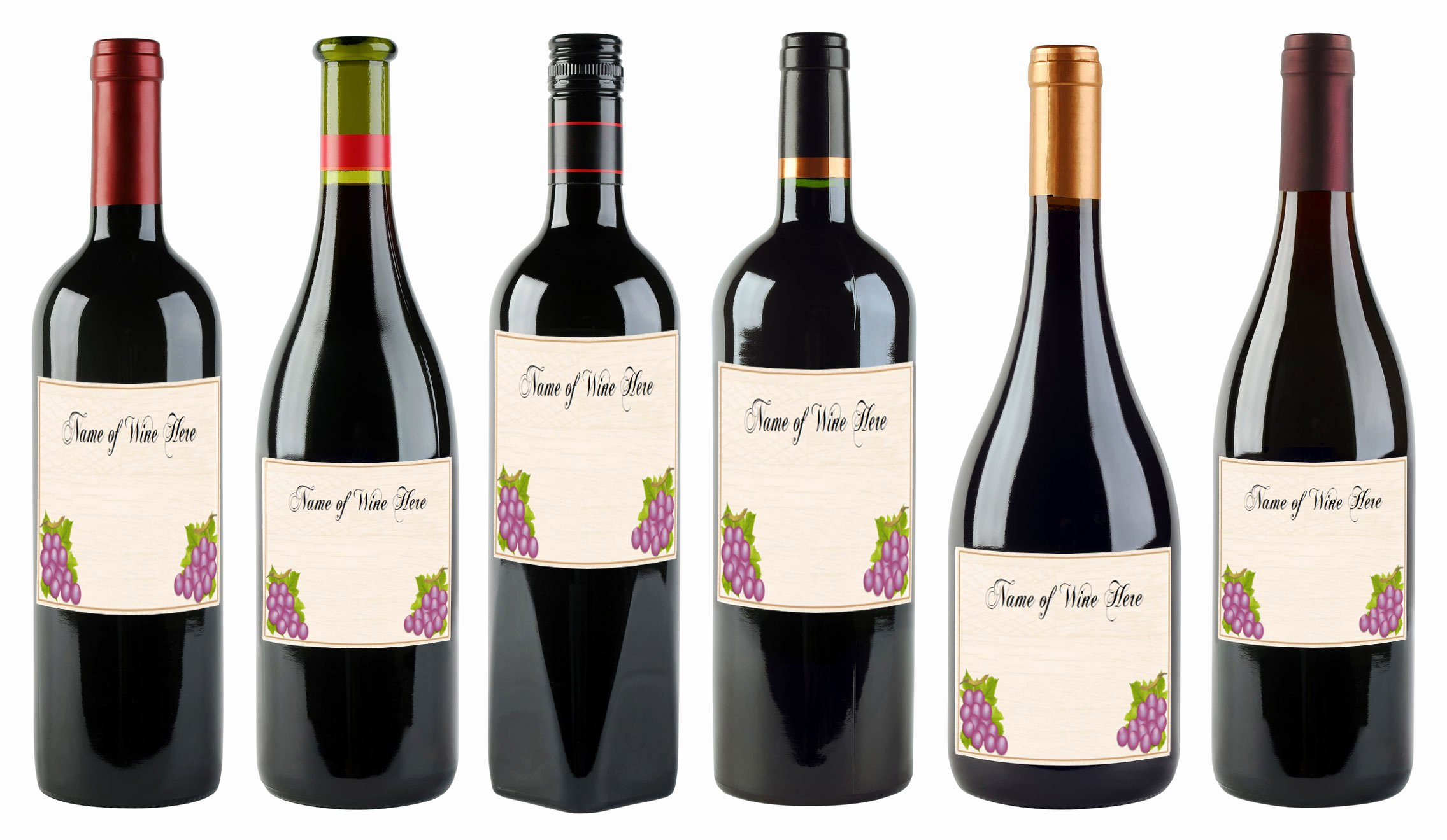 Wine Bottle Labels Template Bamboodownunder