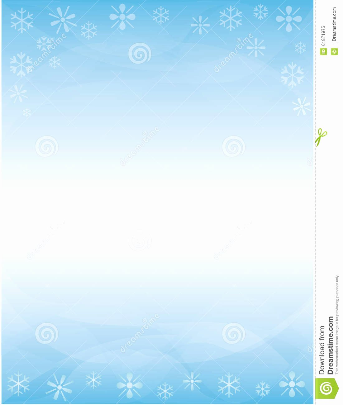 Winter Brochure Background Stock Illustration Image Of