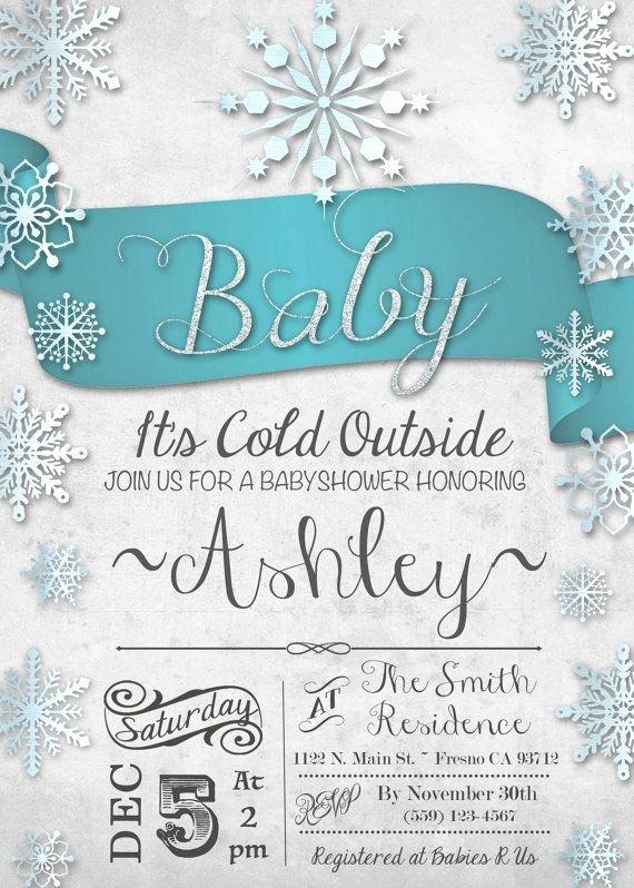 Winter Wonderland Baby Shower Invitations Winter