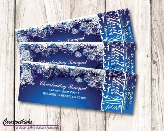 Winter Wonderland Banquet Ticket Digital File by